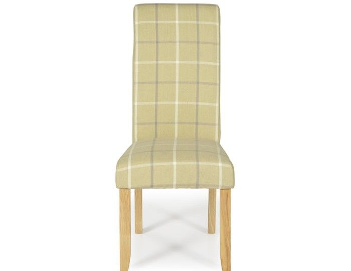 Durham Mustard Tartan and Oak Dining Chair