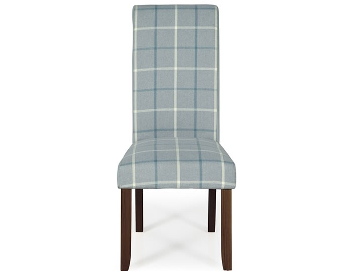 Durham Archer Tartan and Walnut Dining Chair