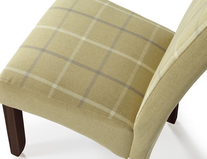 Durham Mustard Tartan and Walnut Dining Chair