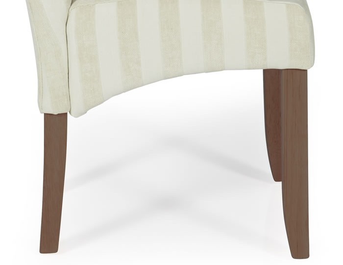 Durham Cream Stripe and Walnut Dining Chair