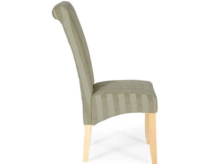 Durham Sage Stripe and Oak Dining Chair