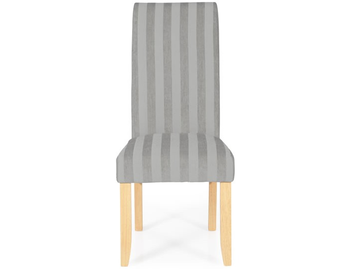 Durham Silver Stripe and Oak Dining Chair