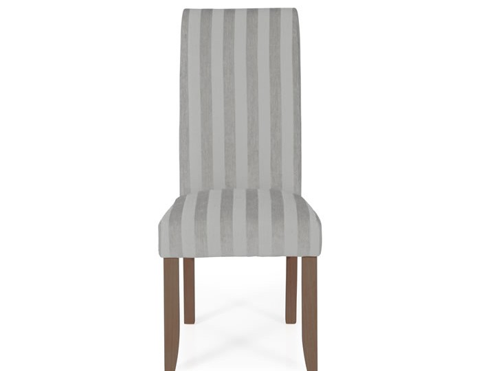 Durham Silver Stripe and Walnut Dining Chair