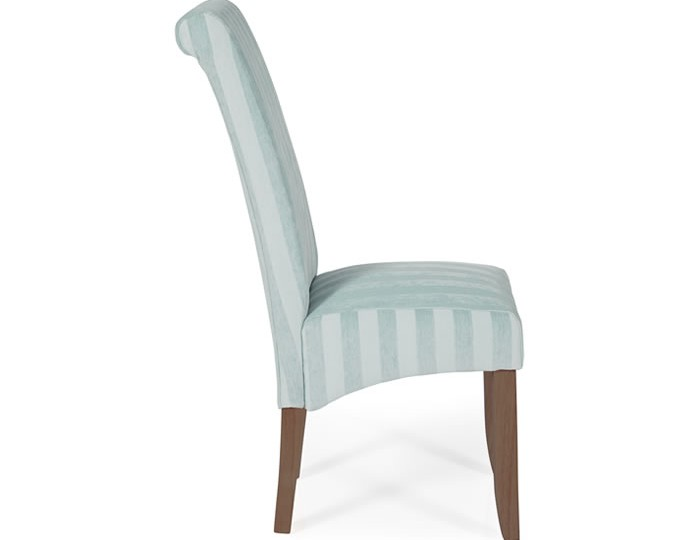 durham duck egg stripe and walnut dining chair frances hunt