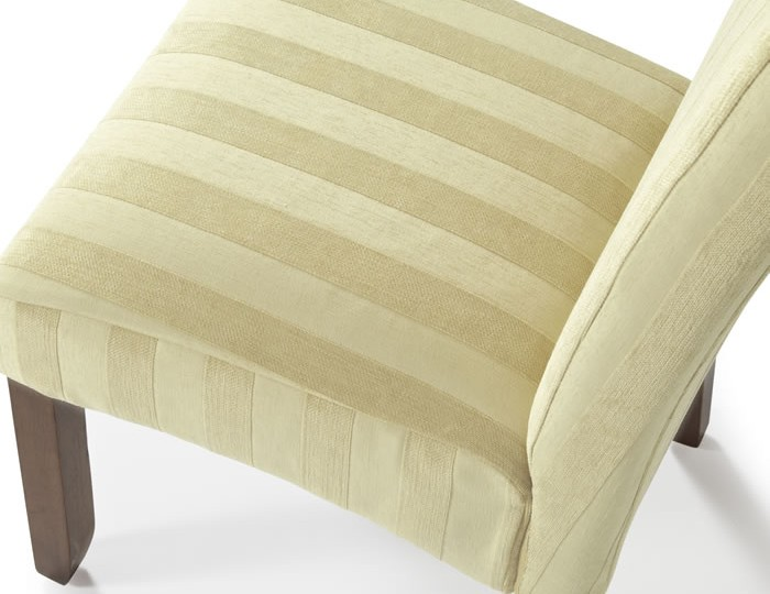 Durham Oatmeal Stripe and Walnut Dining Chair