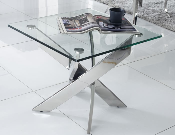 Linsdale Clear Glass Lamp Table