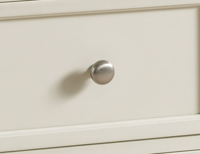 Portland Stone White and Oak 2 Drawer Bedside Chest