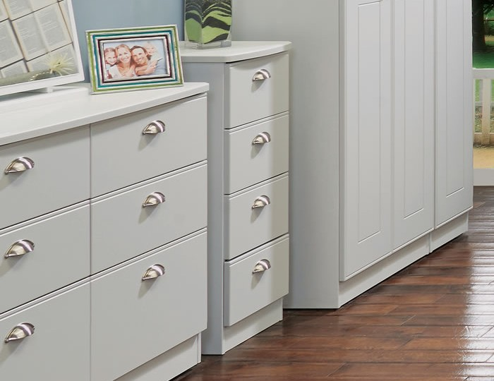 Yeadon Matt Grey 4 Drawer Tallboy