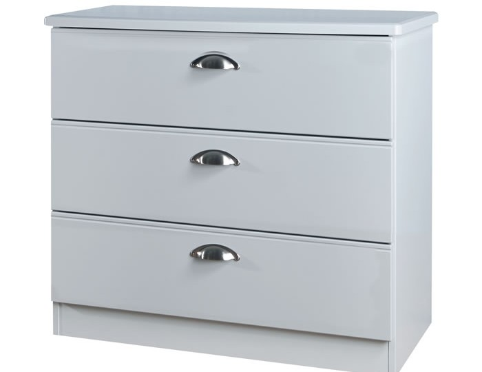 Yeadon Matt Grey 3 Drawer Chest