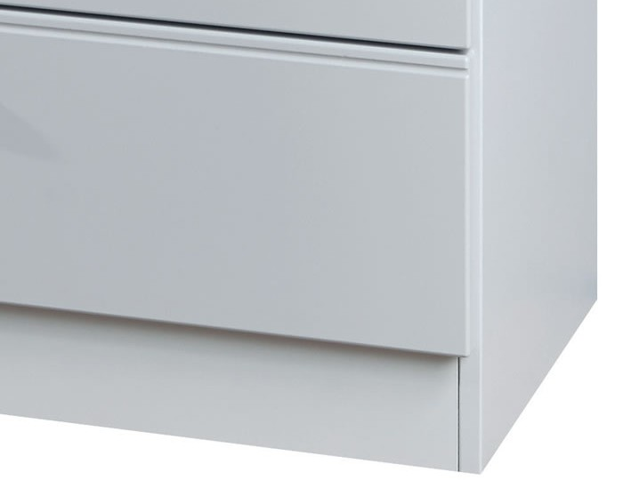 Yeadon Matt Grey 4 Drawer Chest