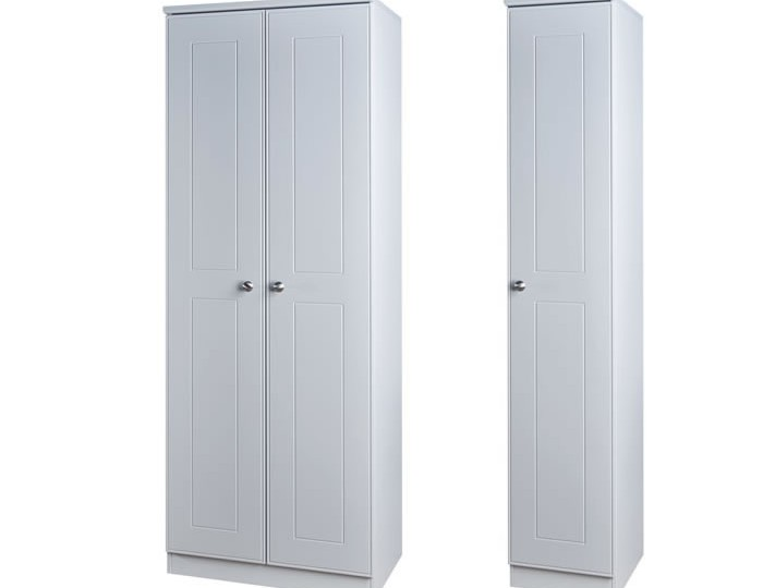 Yeadon Matt Grey Triple Wardrobe