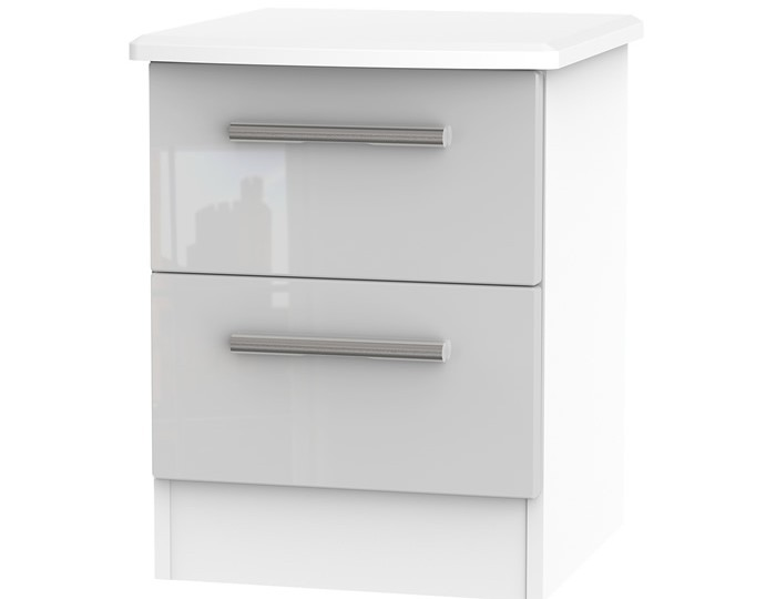 Bishop Kashmir High Gloss 2 Drawer Bedside Chest