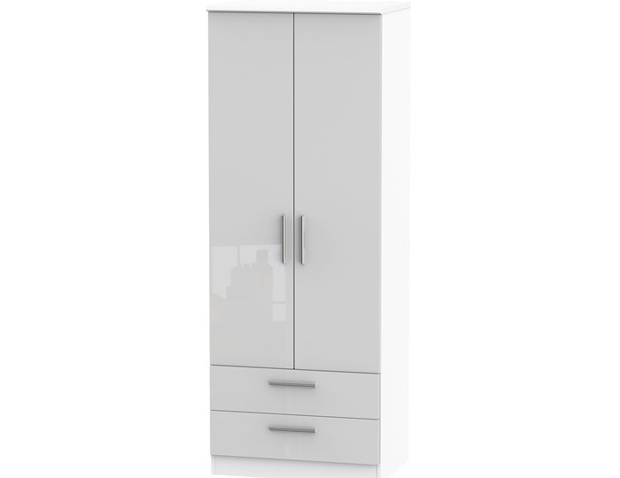 Bishop Kashmir High Gloss 2 Door 2 Drawer Wardrobe