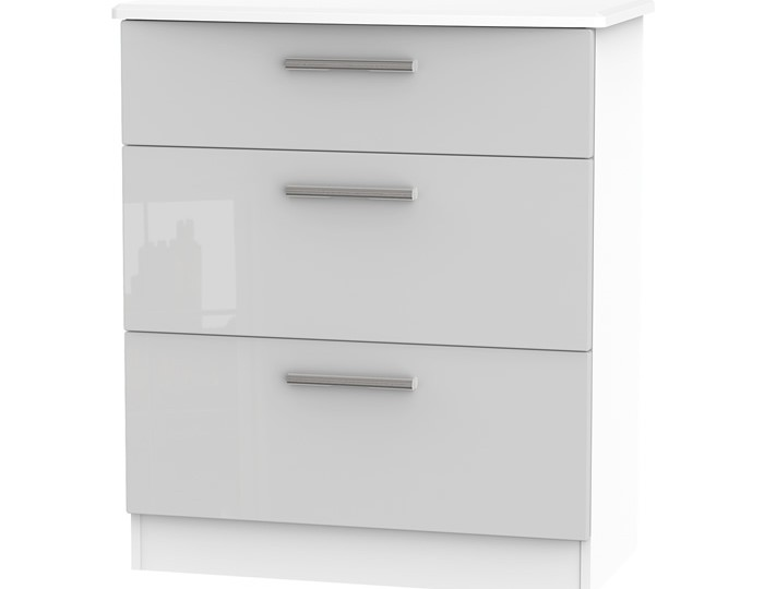 Bishop Kashmir High Gloss 3 Drawer Deep Chest