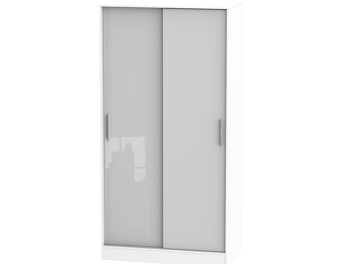 Bishop Kashmir High Gloss Sliding Wardrobe