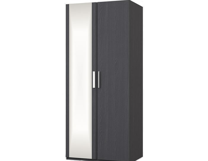 Elsham Graphite Double Wardrobe with Mirror