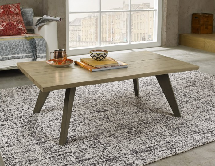 Cadell Aged & Weathered Oak Coffee Table
