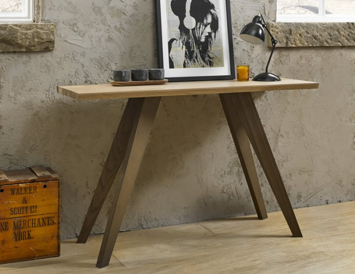 Cadell Aged & Weathered Oak Console Table