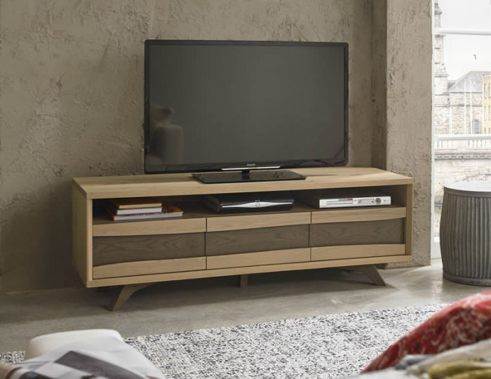 Cadell Aged & Weathered Oak Entertainment Unit