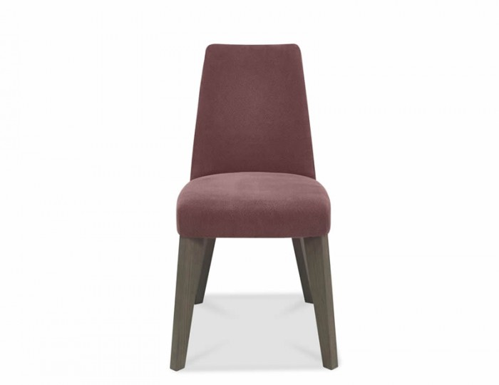 Cadell Oak And Mulberrry Upholstered Dining Chair