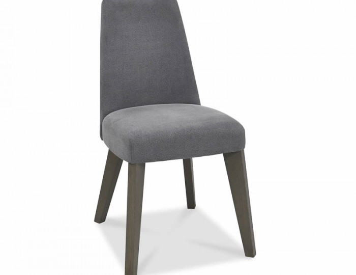 Cadell Weathered Oak And Slate Blue Upholstered Dining Chair