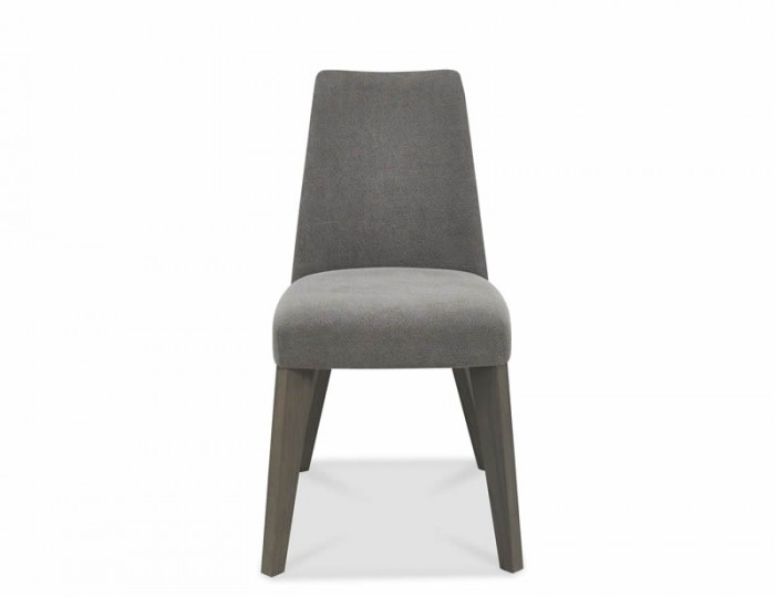 Cadell Weathered Oak And Smoke Grey Upholstered Dining Chair