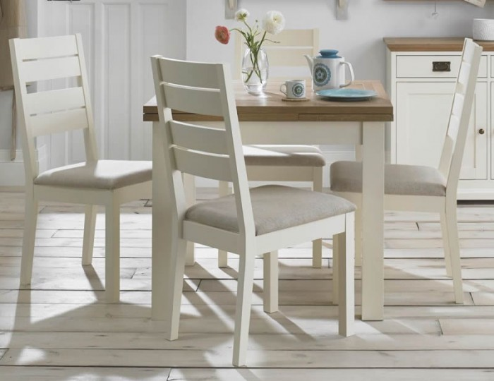 Provence Two-Tone Small Extending Dining Set