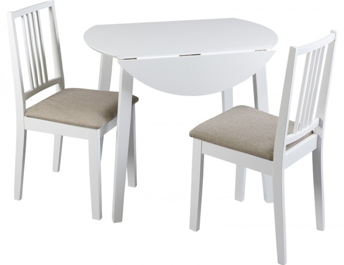 Brydon white drop leaf table chairs frances hunt furniture - Drop leaf table and chairs uk ...