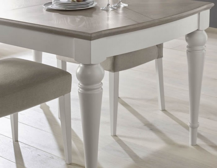Montreux Grey Two-Tone 140 cm Extending Dining Table