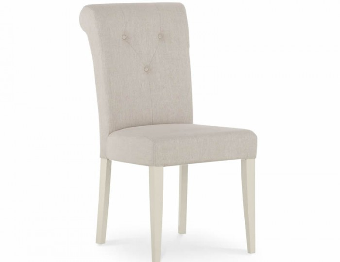 Montreux Antique White and Sand Fabric Upholstered Dining Chair