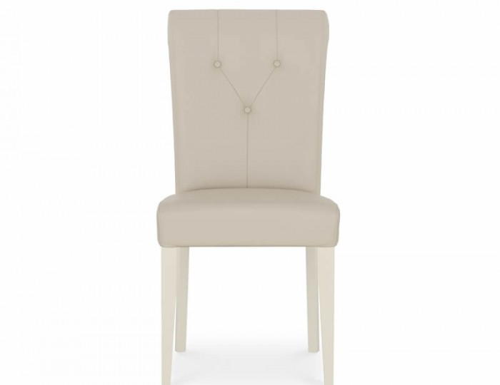 Montreux Antique White and Ivory Bonded Leather Dining Chair