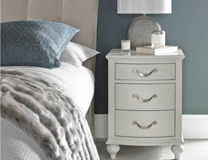 Montreux Soft Grey 3 Drawer Bedside Chest
