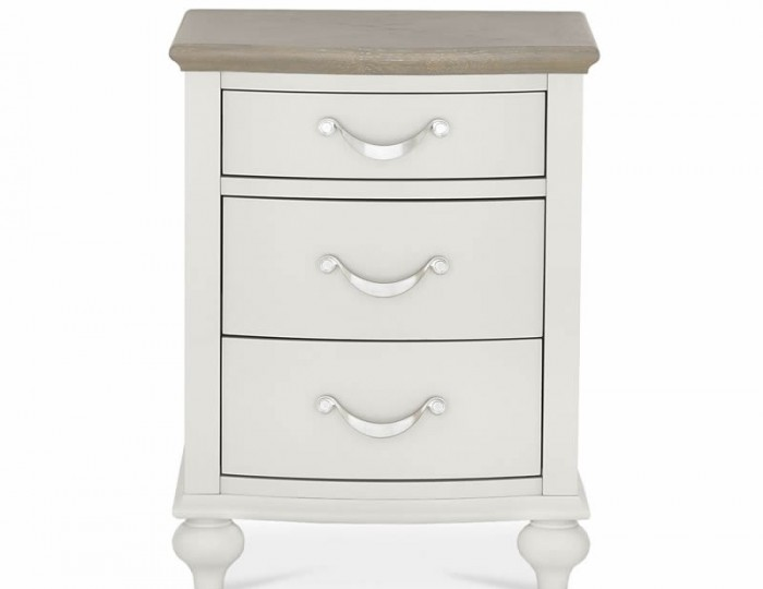 Montreux Grey Two-Tone 3 Drawer Bedside Chest