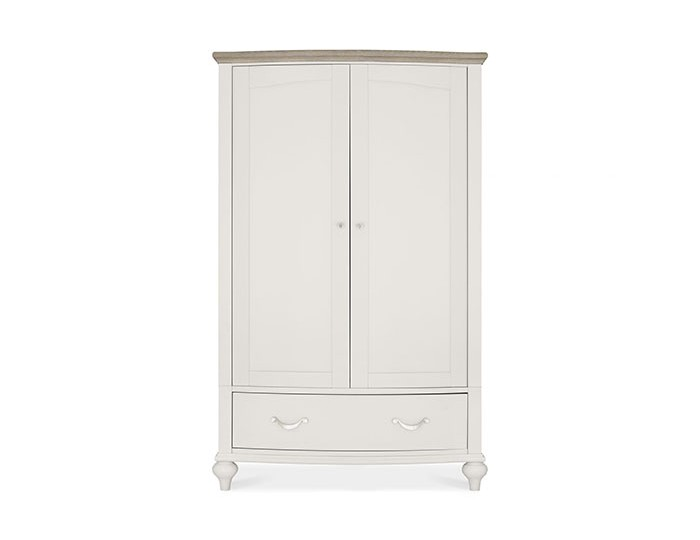Montreux Grey Two-Tone 2 Door 1 Drawer Wardrobe