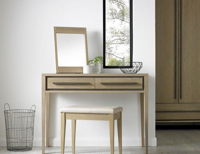 Rimini Single Weathered Oak Dressing Table