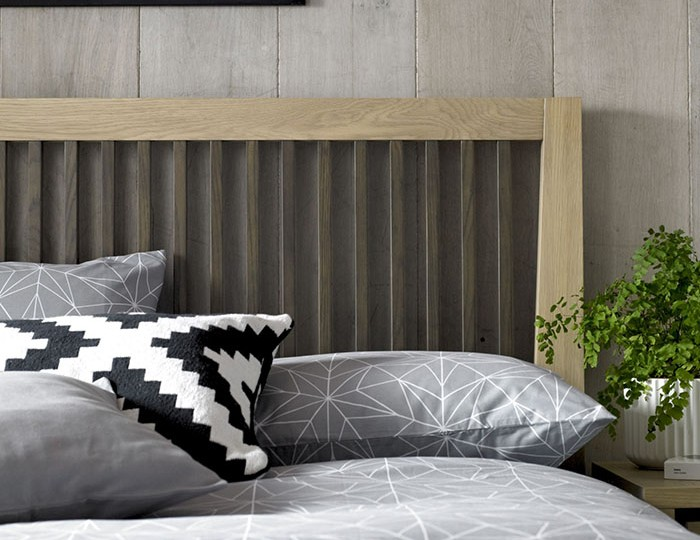 Rimini Weathered Oak Slatted Bed