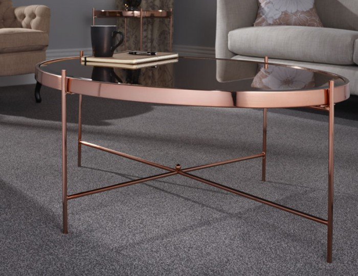 Taurus Rosegold and Glasstop Coffee Table