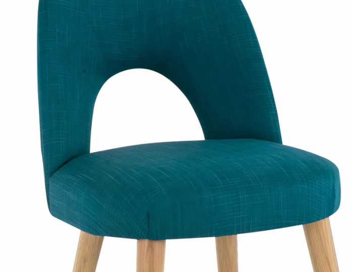 Orbit Teal Upholstered Dining Chairs