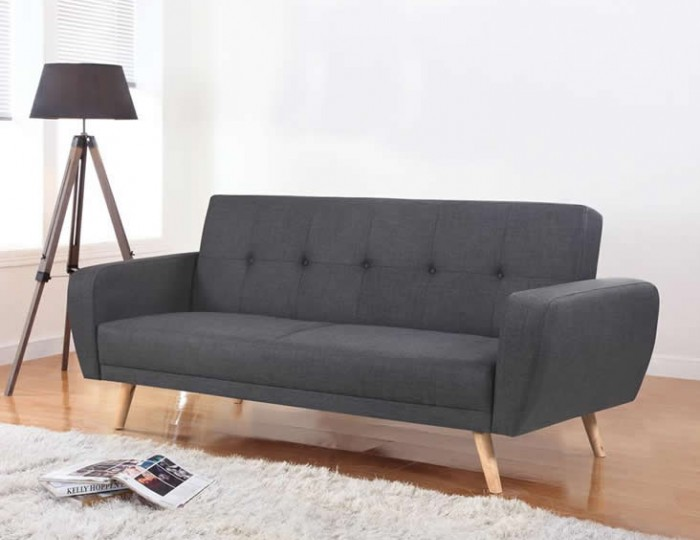 Beckman 115cm Grey Fabric Sofa Bed