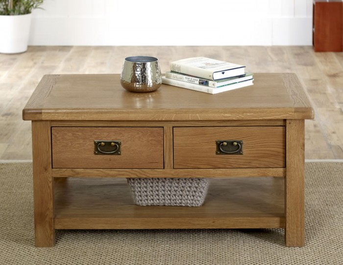 Priory Oak Coffee Table with Drawer