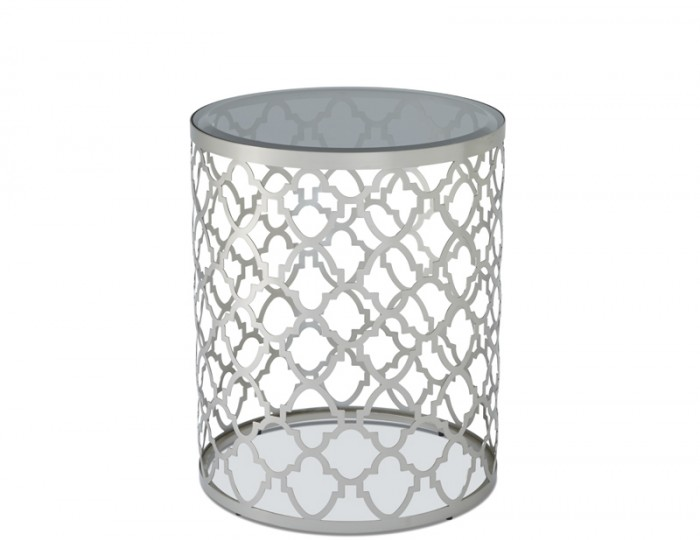 Bianca Smoked Glass Lamp Table