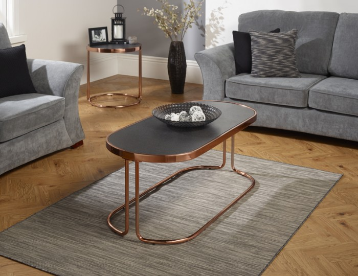 Dawn Stone Glass Coffee Table