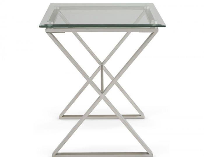 Kiana Clear Glass Lamp Table