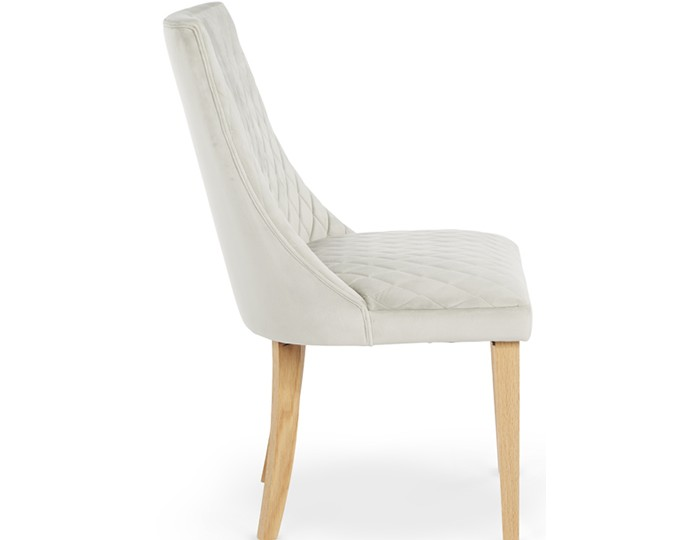 Charlton Silver Fabric and Oak Dining Chair