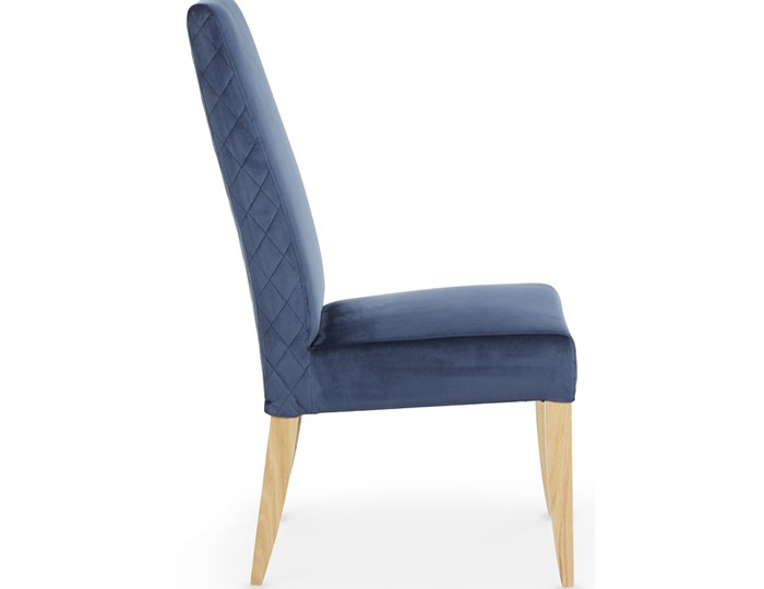 Hendon Blue Fabric and Oak Dining Chair