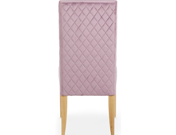 Hendon Lavender Fabric and Oak Dining Chair