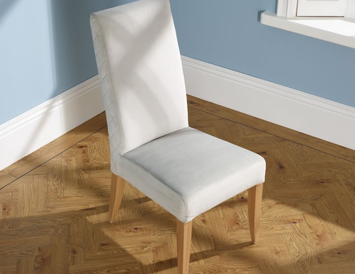 Hendon Silver Fabric and Oak Dining Chair