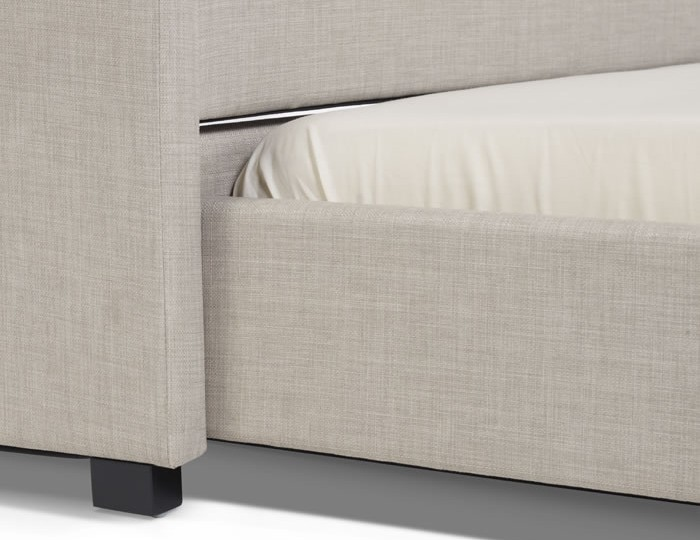 Lily Linen Upholstered Bed and Guest Bed