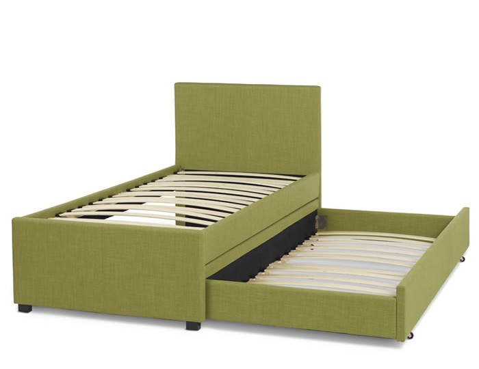 Lily Olive Upholstered Bed and Guest Bed