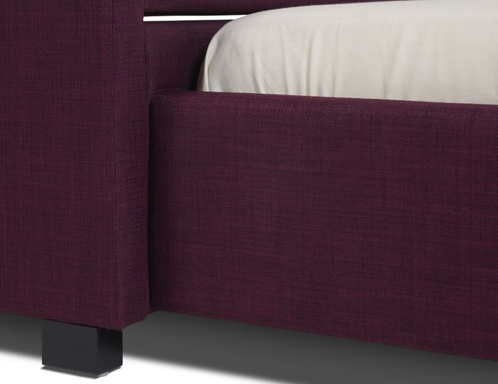 Lily Plum Upholstered Bed and Guest Bed